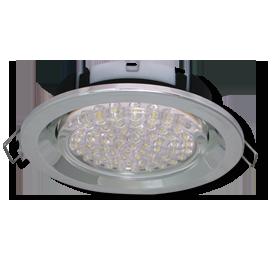 Ecola GX53 FT3225 светильник встраиваемый глубокий лёгкий хром 27x109