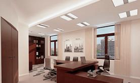 Натяжной потолок в офисе -это практично и недорого